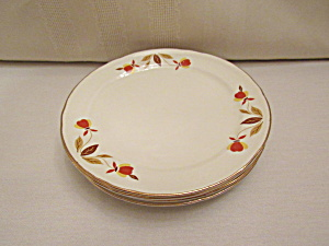 Hall Autumn Leaf Jewel T Dessert-salad Plate