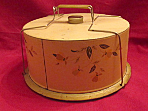 Hall Autumn Leaf Jewel T Metal Cake Safe