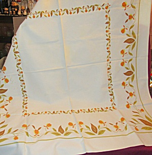 Jewel T Autumn Leaf Sailcloth Tablecloth