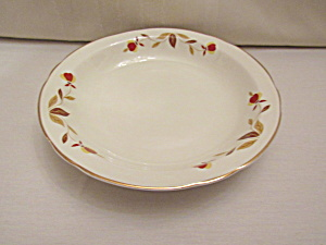 Hall Autumn Leaf Jewel T Flat Soup Bowl