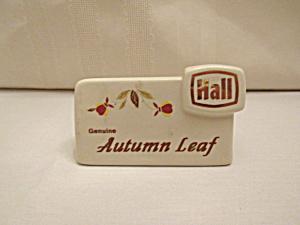 HALL AUTUMN LEAF DEALER SIGN   (Image1)