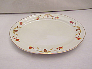 Hall Autumn Leaf Small Oval Platter & Hall - Antique China Antique Dinnerware Vintage China Vintage ...