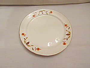 HALL AUTUMN LEAF JEWEL T LUNCHEON PLATE    (Image1)