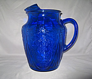 COBALT BLUE ROYAL LACE 96 oz ICE LIP PITCHER  (Image1)
