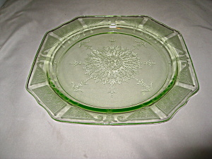 Green Princess Depression Dinner Plate