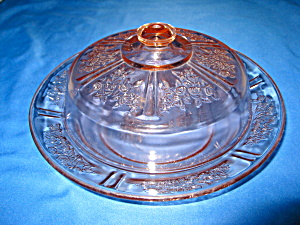 "Pink Sharon ""cabbage Rose Covered Butter Dish"