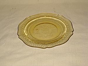 AMBER PATRICIAN SHERBET PLATE (Image1)