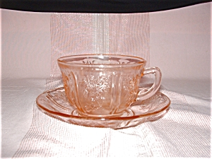 Pink Sharon Cabbage Rose Cup & Saucer