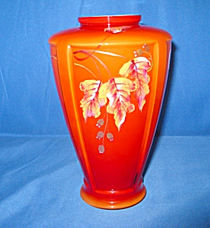 Fenton Persimmon Paneled Vase (Image1)