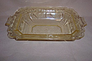 YELLOW LORAIN BASKET OVAL VEGETABLE BOWL (Image1)