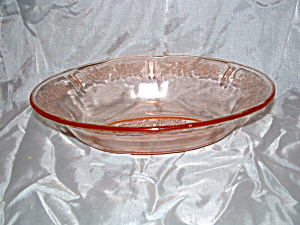 Pink Sharon Oval Depression Glass Bowl