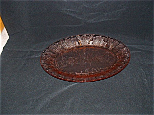 Pink Floral Poinsettia Oval Platter