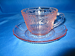 American Sweetheart Pink Cup & Saucer