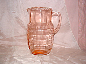 PINK BLOCK OPTIC DEPRESSION PITCHER (Image1)