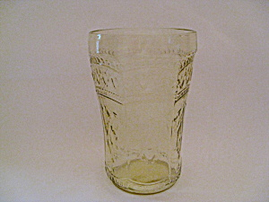 AMBER PATRICIAN DEPRESSION FLAT WATER GLASS (Image1)