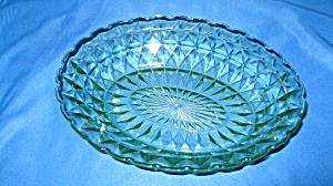 Green Windsor Depression Oval Bowl