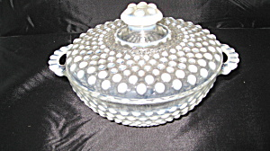 Moonstone Covered Candy Dish