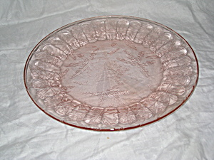 PINK FLORAL POINSETTIA DINNER PLATE (Image1)