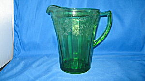 Green Cherry Blossom Flat Pitcher