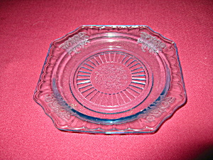 BLUE MAYFAIR DEPRESSION SHERBET PLATE (Image1)