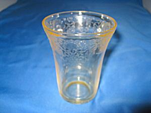 YELLOW FLORENTINE #2 FLAT WATER TUMBLER (Image1)