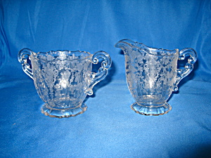 CAMBRIDGE ROSE POINT CREAM & SUGAR SET (Image1)
