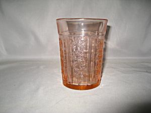 PINK SHARON THICK FLAT WATER TUMBLER   (Image1)