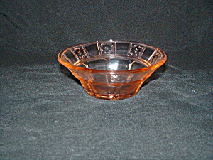 Pink Doric Depression Berry Bowl