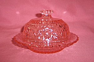 PINK HOLIDAY BUTTON & BOWS COVERED BUTTER DIS (Image1)