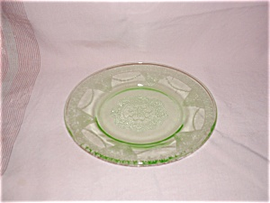 GREEN GEORGIAN LOVEBIRDS SHERBET PLATE (Image1)