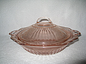 PINK MAYFAIR COVERED VEGETABLE BOWL (Image1)