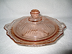 PINK MAYFAIR COVERED BUTTER DISH (Image1)