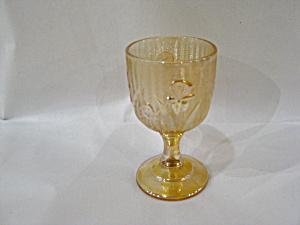 IRIDESCENT IRIS & HERRINGBONE WINE GOBLET (Image1)