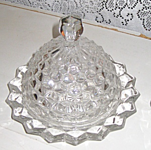 AMERICAN FOSTORIA ROUND COVERED BUTTER DISH (Image1)