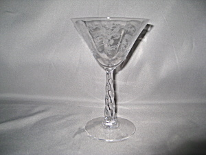 FOSTORIA MAYFLOWER MELODY COCKTAIL GOBLET     (Image1)