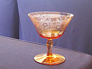 FOSTORIA  AMBER VESPER LOW SHERBET GOBLET (Image1)