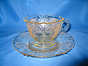 Heisey Sahara Old Colony Cup & Saucer Set