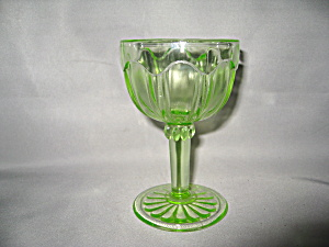 GREEN COLONIAL KNIFE & FORK COCKTAIL GOBLET   (Image1)