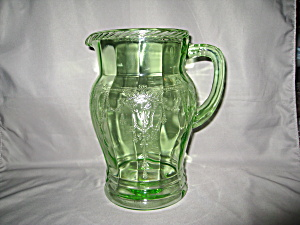 Green Cameo Ballerina Large Water Pitcher