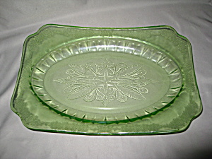 Green Adam Depression Oval Platter