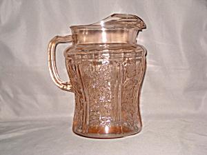 PINK SHARON LARGE ICE LIP PITCHER    (Image1)