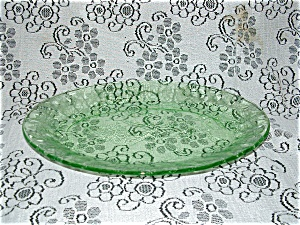 GREEN FLORAL POINSETTIA OVAL PLATTER (Image1)