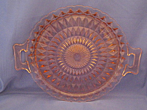 Pink Windsor Open Handled Tray