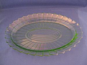 GREEN SIERRA DEPRESSION OVAL PLATTER (Image1)