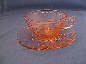 PINK SIERRA DEPRESSION CUP & SAUCER SET (Image1)