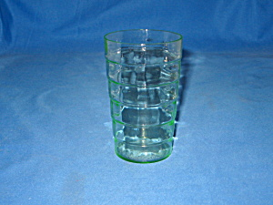 GREEN BLOCK OPTIC FLAT JUICE TUMBLER      (Image1)