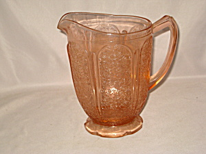 PINK CHERRY BLOSSOM SCALLOPED FOOTED PITCHER (Image1)