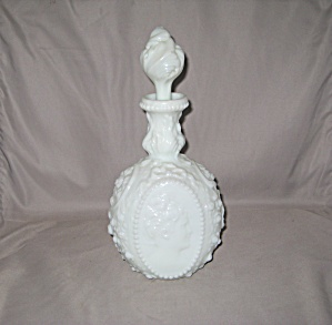 Fostoria Jenny Lind Cologne Bottle W/ Blown S