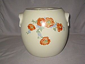 HALL ORANGE POPPY PRETZEL JAR (Image1)