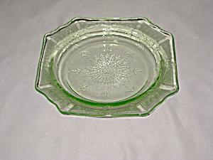 GREEN PRINCESS SAUCER/SHERBET PLATE (Image1)